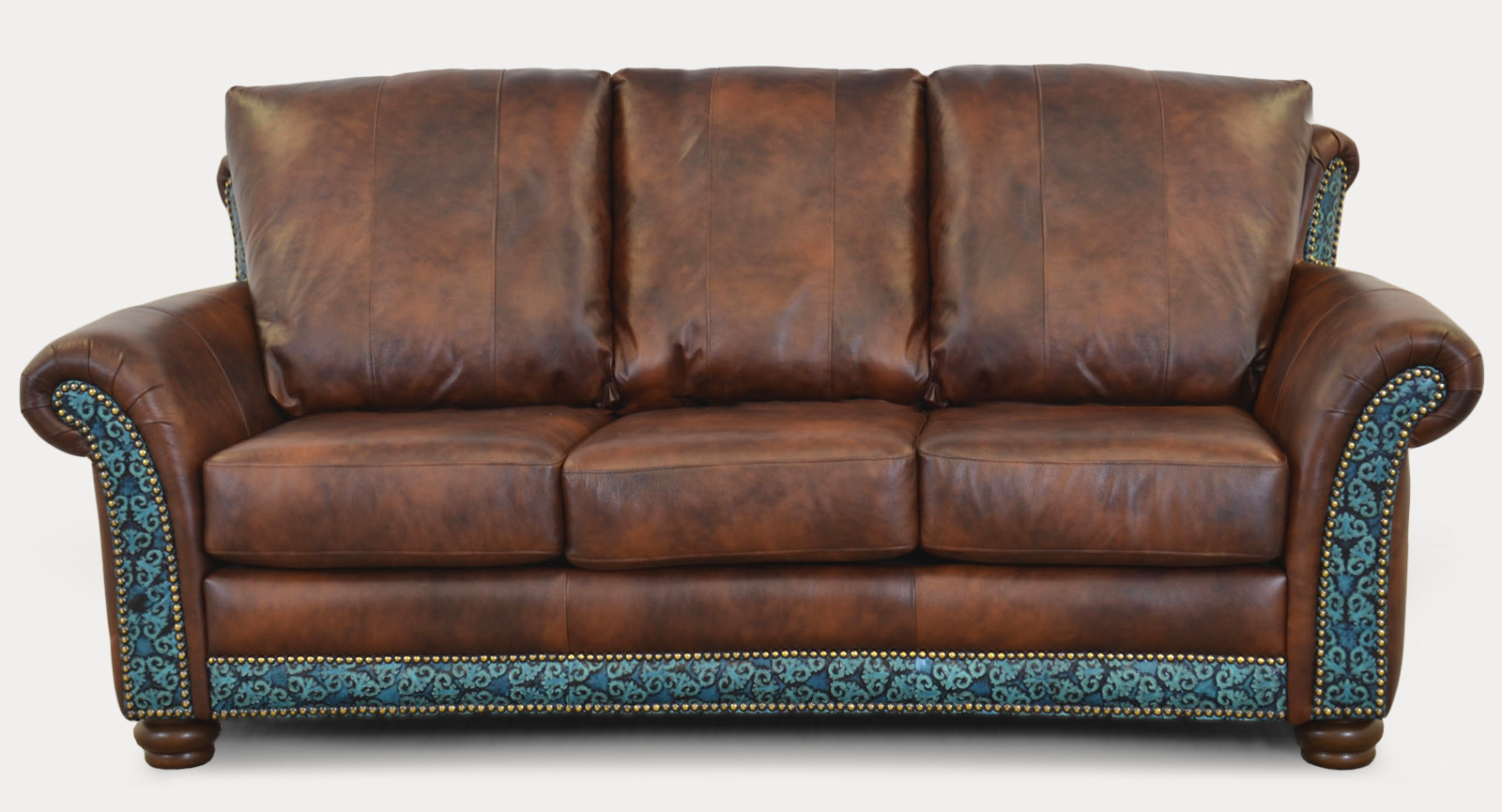Austin Sofa Tooled Turqouise