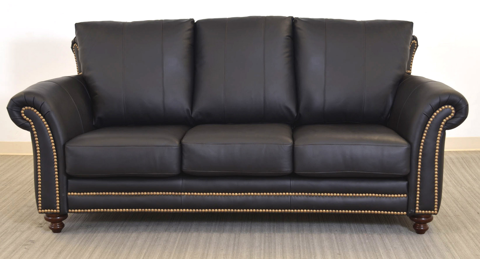 Austin Three Seat Sofa Black