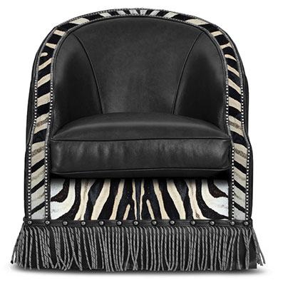 Texas Game Chair Zebra