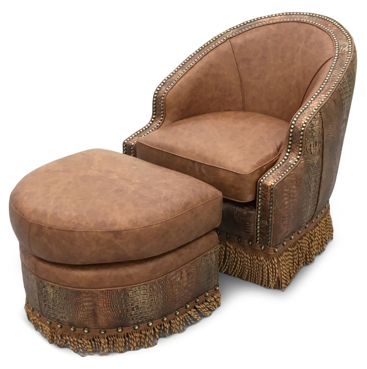 Texas Game Chair And Ottoman